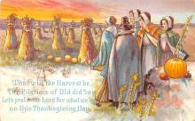 hol064387 - Thanksgiving Postcard Old Vintage Antique Post Card