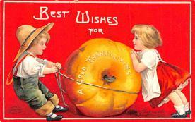 hol064393 - Thanksgiving Postcard Old Vintage Antique Post Card