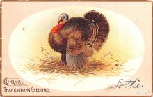 hol064401 - Thanksgiving Postcard Old Vintage Antique Post Card