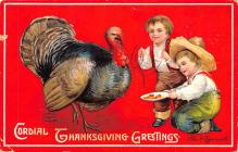 hol064407 - Thanksgiving Postcard Old Vintage Antique Post Card