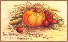 hol064409 - Thanksgiving Postcard Old Vintage Antique Post Card