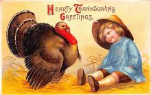 hol064415 - Thanksgiving Postcard Old Vintage Antique Post Card