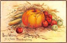 hol064417 - Thanksgiving Postcard Old Vintage Antique Post Card