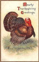 hol064419 - Thanksgiving Postcard Old Vintage Antique Post Card