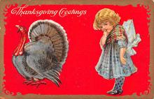 hol064443 - Thanksgiving Postcard Old Vintage Antique Post Card