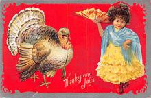 hol064447 - Thanksgiving Postcard Old Vintage Antique Post Card