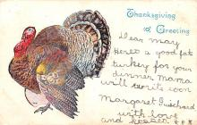 hol064449 - Thanksgiving Postcard Old Vintage Antique Post Card