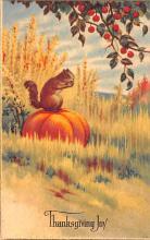 hol064457 - Thanksgiving Postcard Old Vintage Antique Post Card
