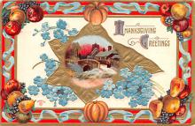 hol064459 - Thanksgiving Postcard Old Vintage Antique Post Card