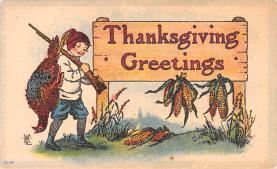hol064467 - Thanksgiving Postcard Old Vintage Antique Post Card