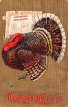 hol064469 - Thanksgiving Postcard Old Vintage Antique Post Card