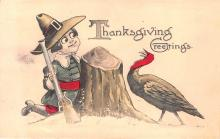 hol064473 - Thanksgiving Postcard Old Vintage Antique Post Card