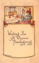 hol064475 - Thanksgiving Postcard Old Vintage Antique Post Card