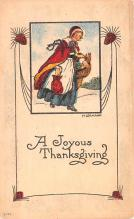 hol064477 - Thanksgiving Postcard Old Vintage Antique Post Card