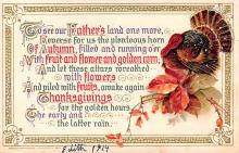 hol064479 - Thanksgiving Postcard Old Vintage Antique Post Card