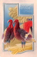 hol064489 - Thanksgiving Postcard Old Vintage Antique Post Card