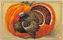 hol064497 - Thanksgiving Postcard Old Vintage Antique Post Card