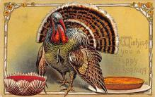 hol064499 - Thanksgiving Postcard Old Vintage Antique Post Card