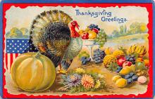 hol064503 - Thanksgiving Postcard Old Vintage Antique Post Card