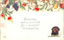 hol064505 - Thanksgiving Postcard Old Vintage Antique Post Card