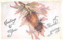 hol064515 - Thanksgiving Postcard Old Vintage Antique Post Card