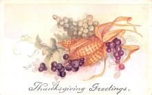 hol064517 - Thanksgiving Postcard Old Vintage Antique Post Card