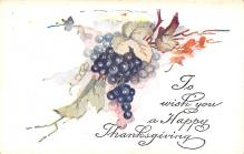 hol064519 - Thanksgiving Postcard Old Vintage Antique Post Card
