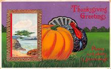 hol064523 - Thanksgiving Postcard Old Vintage Antique Post Card