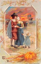 hol064525 - Thanksgiving Postcard Old Vintage Antique Post Card