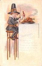 hol064527 - Thanksgiving Postcard Old Vintage Antique Post Card
