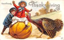hol064529 - Thanksgiving Postcard Old Vintage Antique Post Card