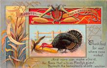 hol064531 - Thanksgiving Postcard Old Vintage Antique Post Card