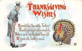 hol064533 - Thanksgiving Postcard Old Vintage Antique Post Card