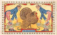 hol064535 - Thanksgiving Postcard Old Vintage Antique Post Card