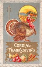 hol064537 - Thanksgiving Postcard Old Vintage Antique Post Card