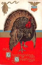 hol064539 - Thanksgiving Postcard Old Vintage Antique Post Card