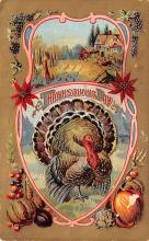 hol064541 - Thanksgiving Postcard Old Vintage Antique Post Card