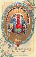 hol064543 - Thanksgiving Postcard Old Vintage Antique Post Card