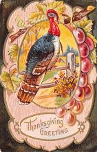 hol064545 - Thanksgiving Postcard Old Vintage Antique Post Card