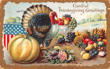 hol064547 - Thanksgiving Postcard Old Vintage Antique Post Card