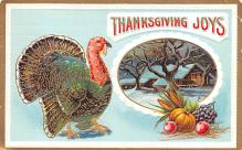 hol064549 - Thanksgiving Postcard Old Vintage Antique Post Card