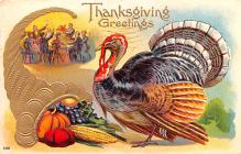 hol064555 - Thanksgiving Postcard Old Vintage Antique Post Card