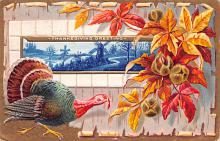 hol064561 - Thanksgiving Postcard Old Vintage Antique Post Card