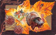 hol064563 - Thanksgiving Postcard Old Vintage Antique Post Card