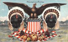 hol064565 - Thanksgiving Postcard Old Vintage Antique Post Card