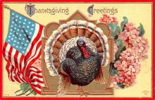 hol064567 - Thanksgiving Postcard Old Vintage Antique Post Card