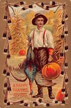 hol064569 - Thanksgiving Postcard Old Vintage Antique Post Card