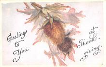 hol064571 - Thanksgiving Postcard Old Vintage Antique Post Card