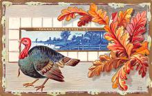 hol064575 - Thanksgiving Postcard Old Vintage Antique Post Card