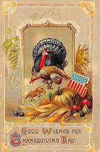 hol064579 - Thanksgiving Postcard Old Vintage Antique Post Card